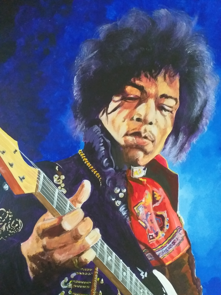 Jimi Hendrix by Tom-Heyburn